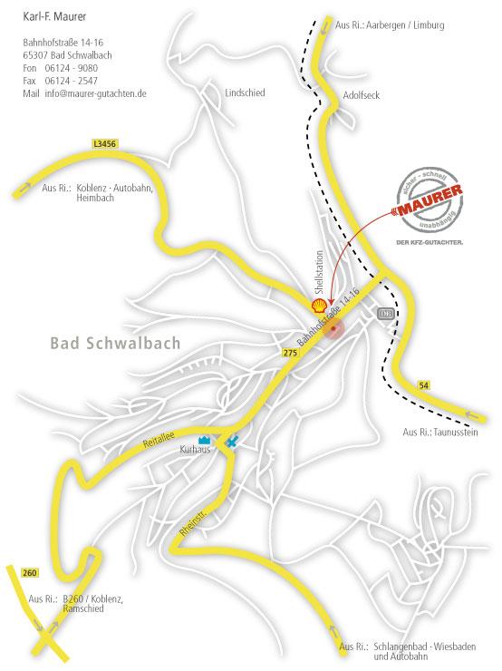 Bad Schwalbach Stadtkarte